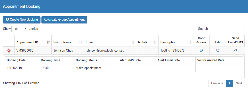 appointment booking admin